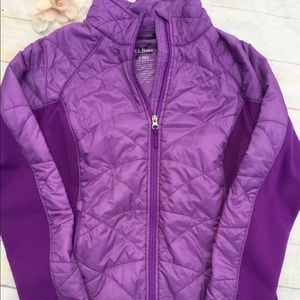 LL Bean Puffer Down quilted zip up jacket coat S